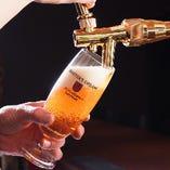 <ビールもこだわる> 樽生達人の生ビールをご提供。