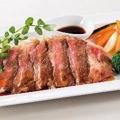 【シェフおすすめの逸品】黒毛和牛のステーキ(200g) ~マルサラソース or おろしポン酢ソース~