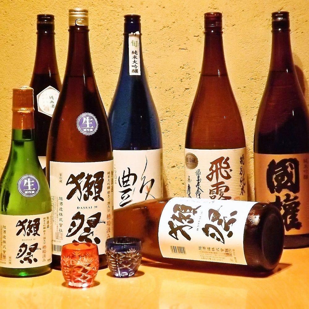 こだわりの日本酒勢ぞろい!