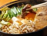 すじ肉のキムチ鍋