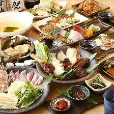 魚介と地鶏を楽しむコース2,980円〜