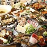 産直魚介と全国の地鶏を味わう飲み放題付コース2,980円から