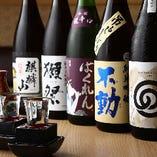 全国の銘酒は常時30種類以上!獺祭や全国地酒などご用意しました