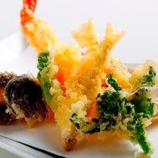 【各種ご宴会・ラグジュアリープラン】料理長おすすめ逸品!季節の天ぷら盛合せなどデザート付き全7品