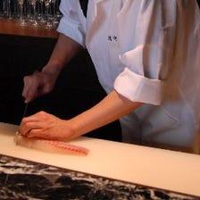 料亭出身の料理長が腕を奮う創作和食