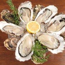 期間限定生牡蠣3種食べ比べ1200円!