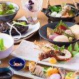名店萬菊の味を季節感溢れる伝統の和食。四季を感じて頂きます
