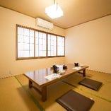 【2階】お座敷席個室(4~10名様×4部屋)※密を避ける為、座席全体を50%以下に配慮