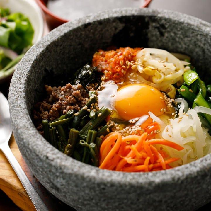 韓国美食で野菜タップリ、中から綺麗