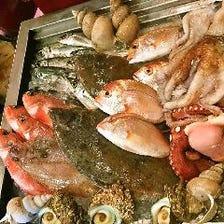 新鮮魚介を使った料理