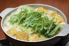 ~白味噌味~白味噌の甘みとゆずの香り、鰹と昆布だしの旨味が絡み合う、あっさり優しい味わいです。