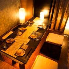 完全個室完備!落ち着きのある和空間