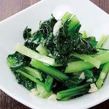 青菜の炒めニンニク風味