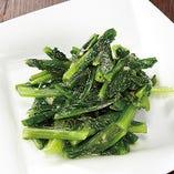 A菜の炒めニンニク風味