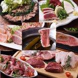 炭火焼盛り&肉寿司が 楽しめる宴会コース