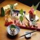 海鮮は、北海道の食材を豊富に扱う日本卸売市場さんから仕入れ