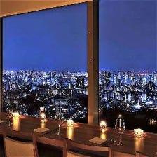 ガーデンプレイス最上階からの夜景