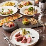 「大皿コース」<全8品>は高級食材をふんだんに取り入れています!!