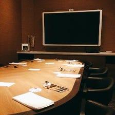 1日1組限定の会議もできる完全個室