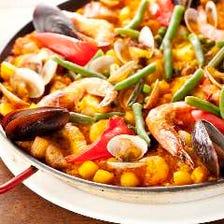 厳選素材で作るスペイン料理