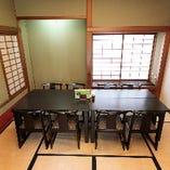 和個室には8名様用のお席が有り、ご家族やお誘い合わせのご宴会に最適です