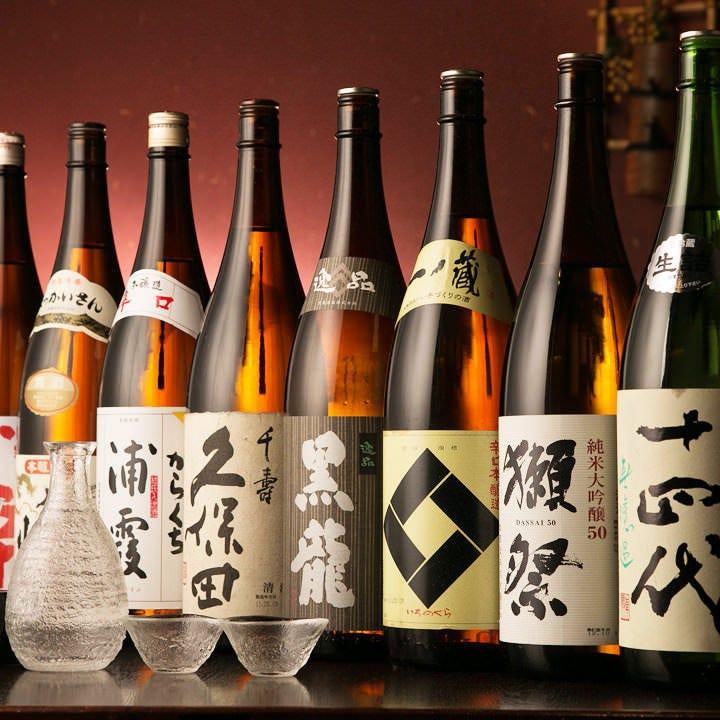 全国各地の日本酒が60品に増量中!