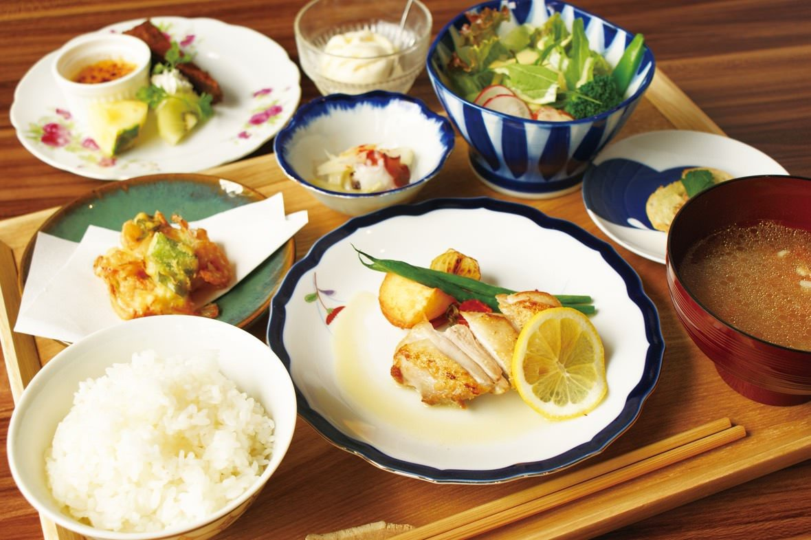 ◆自家製米・野菜で体にやさしい料理