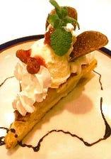 ◆リッチな気分を味わえるデザート