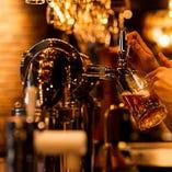 常時20種類用意しているビールをお楽しみください