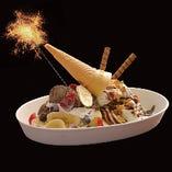 ミルキークラウンのソフトクリーム特製デザート