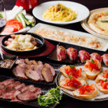 「黒毛和牛の肉寿司」や「合鴨のパストラミ」など人気メニューを含んだパーティープラン