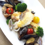 新鮮ムール貝と鮮魚のアクアパッツァ【国産】