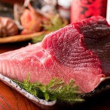 新鮮な魚介類の仕入れ