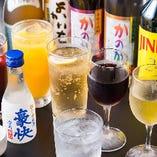日本酒をはじめ料理と相性抜群のドリンクをご用意