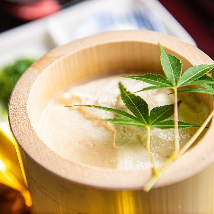 自家製、だから美味しい、あき山の豆腐料理。