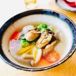 宮島牡蠣とゴロゴロ野菜