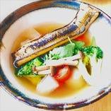 穴子とゴロゴロ野菜