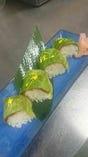 神戸レタスを使った浅漬けの棒寿司 絶品です