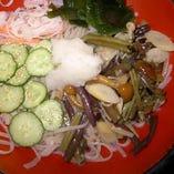 冷やし山菜(うどん、そば)
