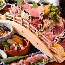 【圧巻!】名物!肉刺しや圧巻の肉盛りが楽しめる日本橋コース<全17品>(税込、サービス料込み)