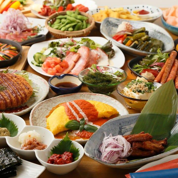 【季節宴会】2h飲み放題付きお料理全8品4,000円コース