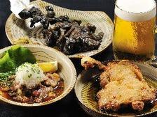 キンキンに冷えたビールと鶏料理