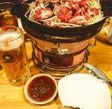 ビールとジンギスカン 最強(^^)/