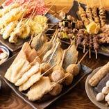 21時まで!当店自慢の串かつ、串天ぷらを食べ放題でご提供!