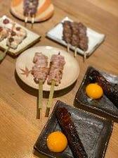 鳥取県産 鮮度抜群の鶏を炭火串焼で
