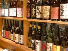 焼酎や日本酒、果実酒などが種類豊富