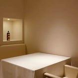 プライベート感を大事にした空間は、記念日利用からデート、接待まで幅広い用途に最適