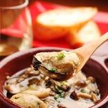 アヒージョ等、牡蠣を使った色々な料理をお楽しみください!