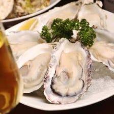 牡蠣とワインのマリアージュ