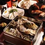 牡蠣、はまぐり、さざえ、海老…BBQ感覚でワイワイ楽しんで♪
